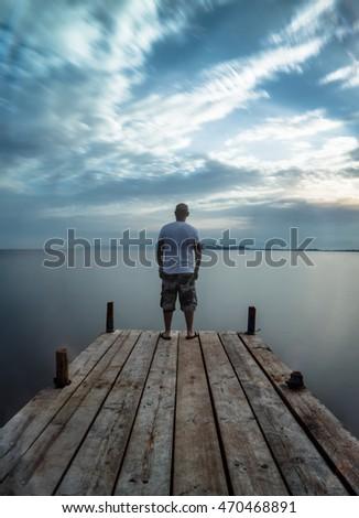 self portrait, a man on the bridge #470468891