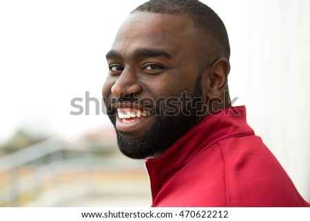 Portrait of a happy African American man #470622212