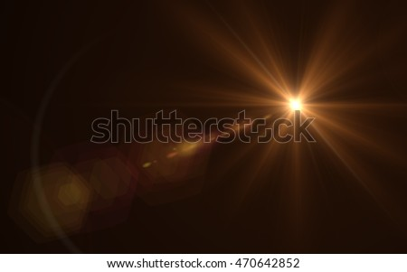 Lens Flare Orange Bright Royalty-Free Stock Photo #470642852