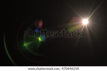 Lens Flare sun light green red Royalty-Free Stock Photo #470646218