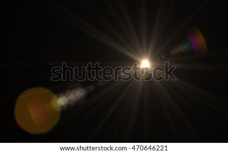 Lens Flare long streak sunlight Royalty-Free Stock Photo #470646221
