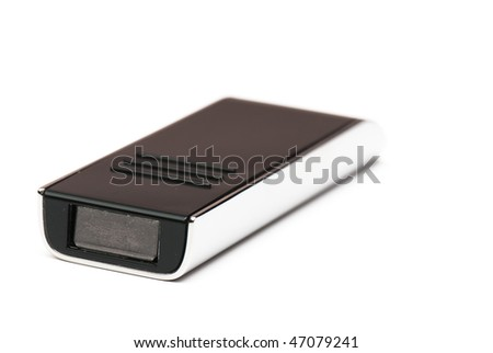 black usb memory isolated on a white background in studio #47079241