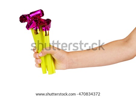 Children's hand and toy  #470834372