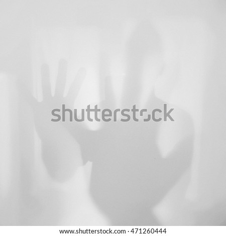 Reflection of waving hand of a friendly person #471260444