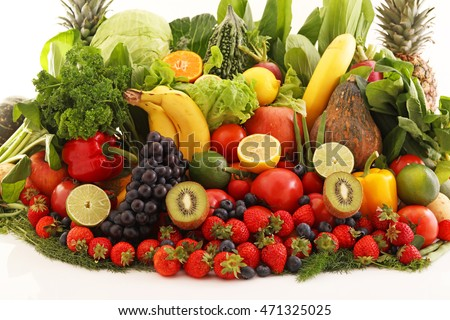 Fresh fruits and vegetables #471325025