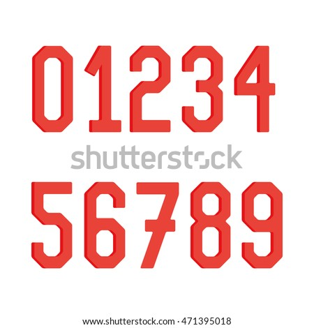 Typographical set of numbers, Vector illustration #471395018