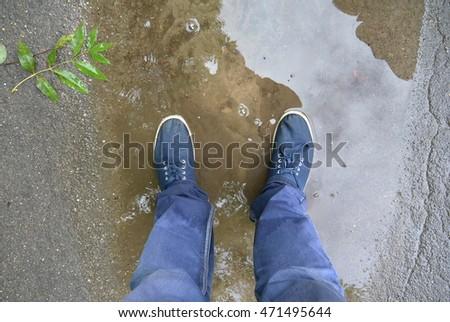 summer rain #471495644