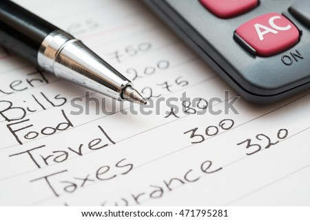 Household expenses concept Royalty-Free Stock Photo #471795281