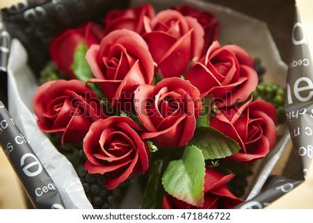 Artificial rose bouquet #471846722