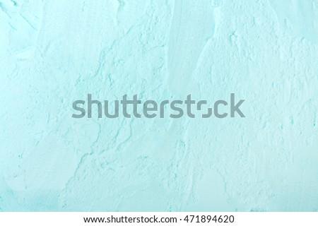 Closeup of creamy blue swirled Ice cream.