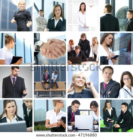 Business collage made of many business pictures #47196880