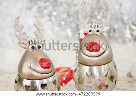 Two funny reindeer
