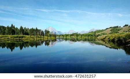 Oxbow bend, Yellow Stone NP, Wyoming USA #472631257