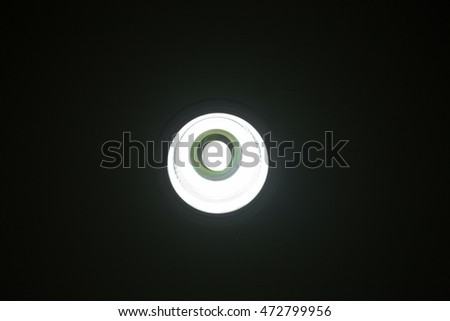 Fluorescent bulbs on the ceiling #472799956