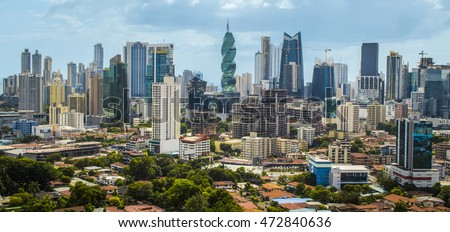 Downtown Panama City Skyscrapers, Panama #472840636
