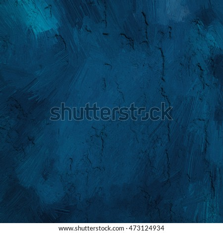 Abstract grunge navy blue background, art painted texture #473124934