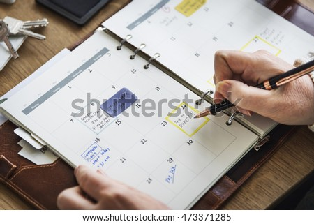 Schedule Memo Diary To Do List Concept #473371285