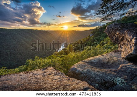 West Virginia, Beauty Mountain, scenic sunset #473411836