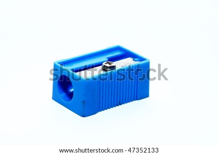 Photo of one pencil-sharpener on a over white background #47352133
