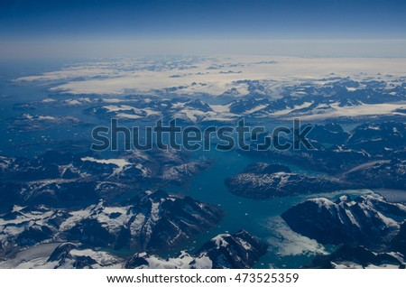 Greenland from above #473525359
