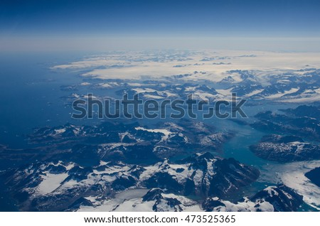 Greenland from above #473525365