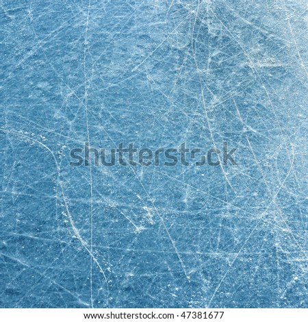 Blue ice surface with scratches