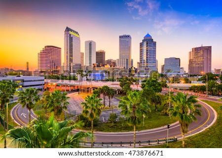 Tampa, Florida, USA downtown skyline.