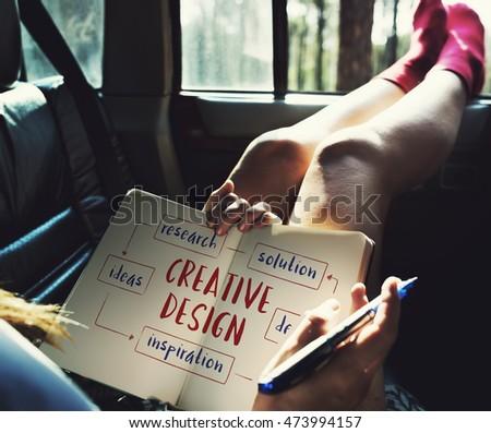 Creative Thinking Creativity Design Process Concept #473994157