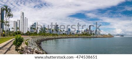 Panoramic view of Panama City Skyline - Panama City, Panama #474538651