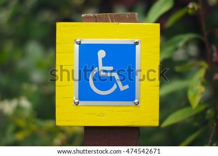 wheelchair handicap sign disabled blue symbol