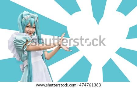 Japan women anime cosplay maid , hand made costume