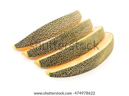 cantaloupe melon on white background #474978622