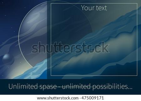 billboard unlimited space vector #475009171