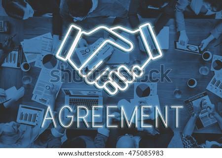 Handshake Deal Agreement Corporate Business Concept #475085983