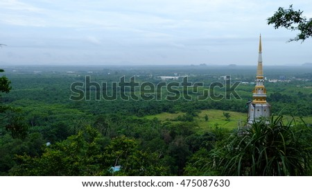 View of The Tiger Cave Temple, Krabi , Thailand #475087630