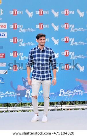 Giffoni Valle Piana, Sa, Italy - July 22, 2016: Leonardo Decarli at Giffoni Film Festival 2016 - on July 22, 2016 in Giffoni Valle Piana, Italy    #475184320