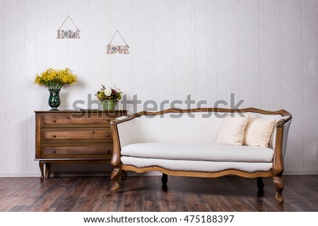 Coach and dresser in home inrerrior #475188397