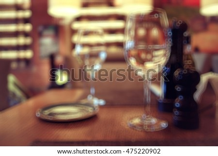 blur the background in a French restaurant #475220902