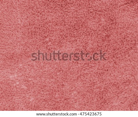 painted red fragment of wrong side of tanned cowhide closeup..Useful as background #475423675