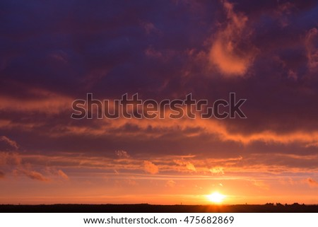 Colorful sunset with clouds #475682869