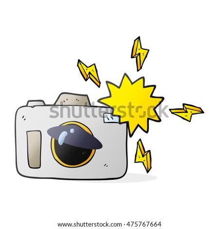 freehand drawn cartoon flashing camera #475767664