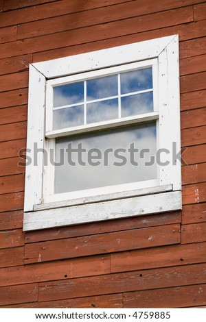 red wood wall and window #4759885