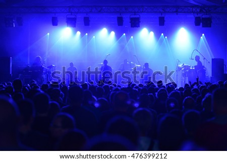 Rock concert, stage and public #476399212