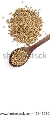Super food hemp seed over white background #476432803