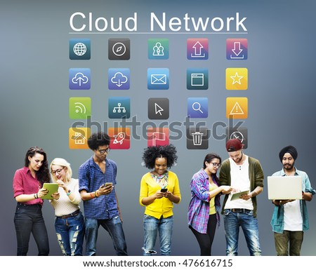 Application Cloud Network Communication Internet Concept #476616715