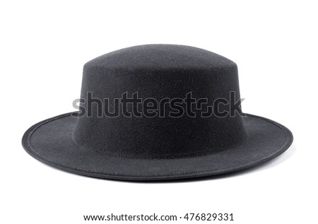 Brown felt hat isolate on white background #476829331