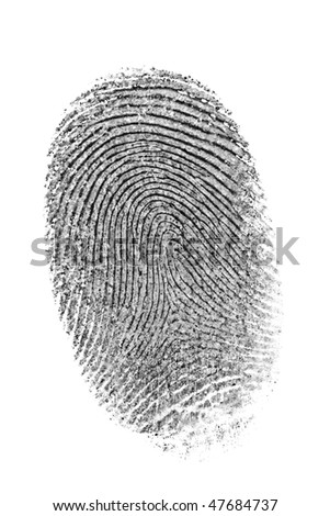 Finger print isolated on the white background. #47684737