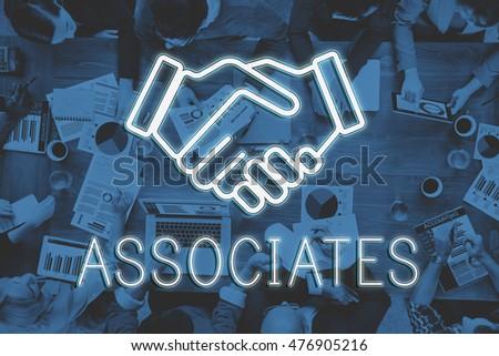 Handshake Deal Agreement Corporate Business Concept #476905216