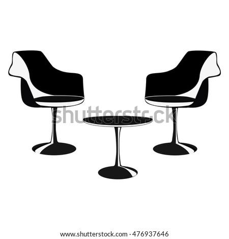 Illustration of vintage furniture. #476937646