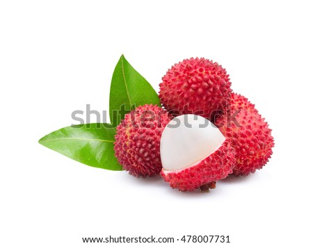 lychees isolated on the white background #478007731